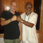 NIck Sasquash very proud to meet the legendary Horace Andy - Dubplate recording session in North West UK, July 2013