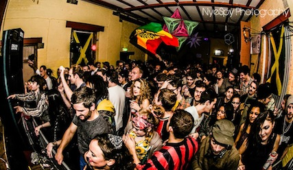 Operation Sound System @ Sheffield DubCentral Nov 2013 / Flags wave, whitles blow!