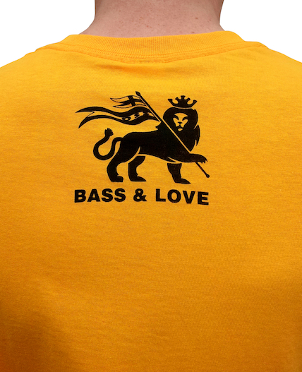 Yellow Operation Sound System t-shirt Back