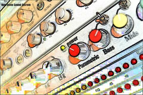 OSS pre-amp & control tower, close up cartoon