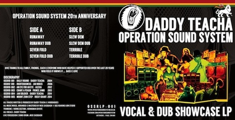 "Daddy Teacah Operation Sound System ""Vocal & Dub Showcase LP"" OSSRLP-001"